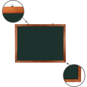 Доска магнитная BRAUBERG 236890 зеленая, деревянная окрашенная рамка, для мела 60x90