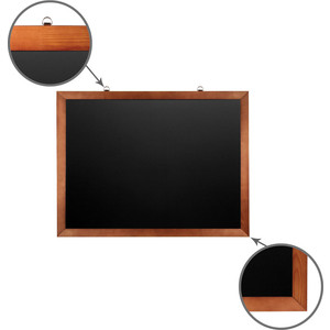 Доска магнитная BRAUBERG 236891 черная, деревянная окрашенная рамка, для мела 60x90