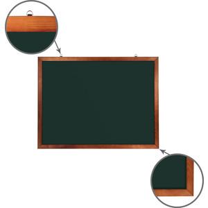 Доска магнитная BRAUBERG 236892 зеленая, деревянная окрашенная рамка, для мела 90x120
