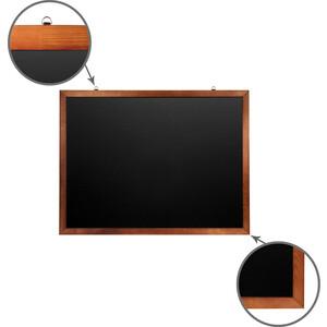 Доска магнитная BRAUBERG 236893 черная, деревянная окрашенная рамка, для мела 90x120