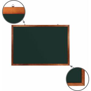 Доска магнитная BRAUBERG 236894 зеленая, деревянная окрашенная рамка, для мела 100x150