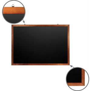 Доска магнитная BRAUBERG 236895 черная, деревянная окрашенная рамка, для мела 100x150 цена