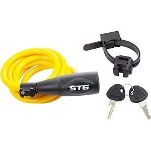 Велосипедный замок STG CL-428 на ключе (1х150см) желтый