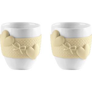 Набор из 2 чашек для кофе 80 мл Guzzini Love (11490079) guzzini набор чайных ложек love key 6 шт в подарочной упаковке 26840763 guzzini