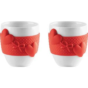 Набор из 2 чашек для кофе 80 мл Guzzini Love (11490055) guzzini набор чайных ложек love key 6 шт в подарочной упаковке 26840763 guzzini