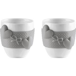 Набор из 2 чашек для кофе 80 мл Guzzini Love (11490033) guzzini набор чайных ложек love key 6 шт в подарочной упаковке 26840763 guzzini