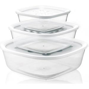 Набор из 3 контейнеров для продуктов Guzzini Forme Casa (21885211) цена и фото