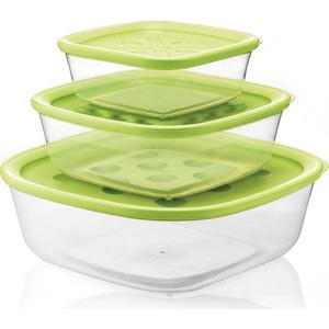 Набор из 3 контейнеров для продуктов Guzzini Forme Casa (21885284)