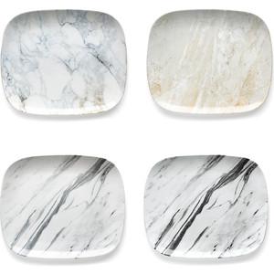 Набор из 4 тарелок 29 см Guzzini Fusion Carrara (11310052) цена
