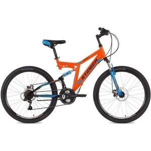 Велосипед Stinger 26 Highlander D 16 оранжевый TZ30/TY21/TS-38 велосипед stinger 24 highlander 200v 16 5 белый