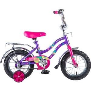 Велосипед 2-х колесный NOVATRACK 12 TETRIS фиолетовый 125954 121TETRIS.VL8 велосипед novatrack girlish line 20 2016 бело фиолетовый