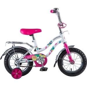 Велосипед 2-х колесный NOVATRACK 12 TETRIS белый 125952 121TETRIS.WT8 велосипед novatrack 16 зебра бордово белый 165 zebra clr6