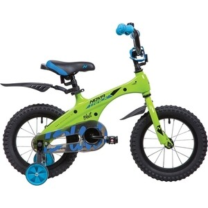 Велосипед 2-х колесный NOVATRACK 14 магний-алюминиевая рама BLAST зеленый неон 145MBLAST.GN9