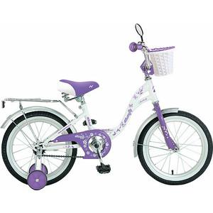 Велосипед 2-х колесный NOVATRACK 14 BUTTERFLY белый-фиолетовый 147BUTTERFLY.WVL9