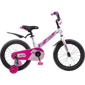 Велосипед 2-х колесный NOVATRACK 16 Магний-Алюминиевая рама BLAST белый-фуксия 165MBLAST.WPR9