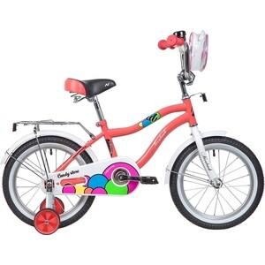 Велосипед 2-х колесный NOVATRACK 16 CANDY коралловый 165CANDY.CRL9 велосипед novatrack 16 зебра бордово белый 165 zebra clr6