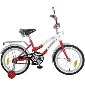 Велосипед 2-х колесный NOVATRACK 16 Z Зебра красно/белый 107086 165ZEBRA.RD6 велосипед навигатор супермен 20 красно синий вн20170