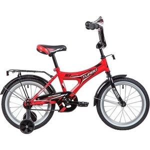 Велосипед 2-х колесный NOVATRACK 16 TURBO монокок красный 167TURBO.RD9