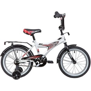 Велосипед 2-х колесный NOVATRACK 16 TURBO монокок белый 167TURBO.WT9