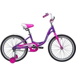Велосипед 2-х колесный NOVATRACK 20 ANGEL фиолетовый 205AANGEL.VL9 велосипед novatrack girlish line 20 2016 бело фиолетовый