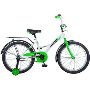 Велосипед 2-х колесный NOVATRACK 20 STRIKE белый-зеленый 203STRIKE.WTG8 велосипед novatrack 16 зебра бордово белый 165 zebra clr6