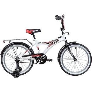 Велосипед 2-х колесный NOVATRACK 20 TURBO монокок белый 207TURBO.WT9