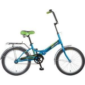 Велосипед 2-х колесный NOVATRACK 20 складной TG20 синий 117075 20FTG201.BL7