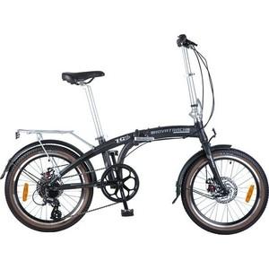 Велосипед 2-х колесный NOVATRACK 20 складной черный RDM310/TS71/HG20 20FATG8SD.BK8 велосипед складной novatrack fs цвет черный 24