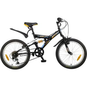 Велосипед 2-х колесный NOVATRACK 20 DART черный Shimano 085338 20SS6V.DART.BK5