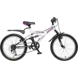Велосипед 2-х колесный NOVATRACK 20 DART черный/белый 085337 20SS6V.DART.WT5