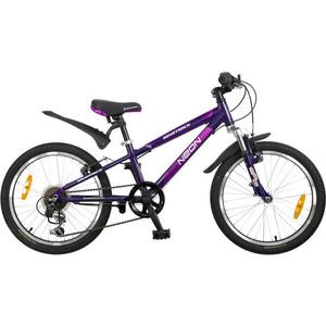 Велосипед 2-х колесный NOVATRACK 20 NEON фиолетовый 085333 20AH6V.NEON.VL5 велосипед novatrack alice 20 2019