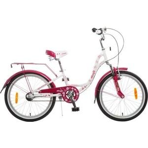 Велосипед 2-х колесный NOVATRACK 20 BUTTERFLY белый-бордовый 098617 20AH3N.BUTTERFLY.WT5