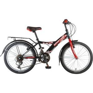 Фото - Велосипед 2-х колесный NOVATRACK 20 RACER черный 117081 20SH12V.RACER.BK7 велосипед novatrack racer черный 24 рама 10