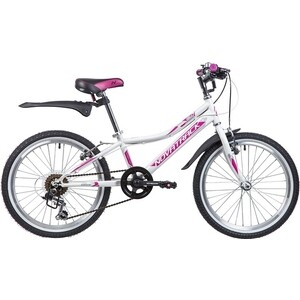 Велосипед 2-х колесный NOVATRACK 20 ALICE белый 20SH6V.ALICE.WT9 велосипед novatrack alice 20 2019