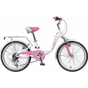 Велосипед 2-х колесный NOVATRACK 20 BUTTERFLY белый-розовый 20SH6V.BUTTERFLY.PN9