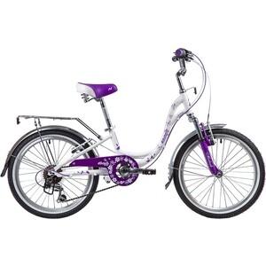 Велосипед 2-х колесный NOVATRACK 20 BUTTERFLY белый-фиолет 20SH6V.BUTTERFLY.VL9 велосипед novatrack alice 20 2019