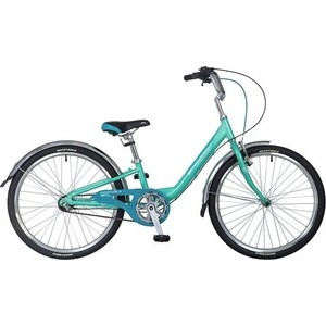 Велосипед 2-х колесный NOVATRACK 24 ANCONA 10 зеленый 24AH3V.ANCONA.10GN8