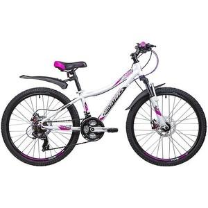 Велосипед 2-х колесный NOVATRACK 24 KATRINA 12 белый 24AHD.KATRINA.12WT9 novatrack novatrack велосипед katrina 24 рама 10 21 скорость белый