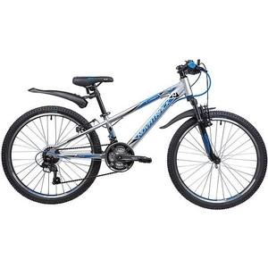 Велосипед 2-х колесный NOVATRACK 24 LUMEN 11 серебристый 24AHV.LUMEN.11SL9 велосипед novatrack lumen синий 24 рама 13