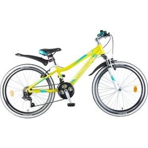 Велосипед 2-х колесный NOVATRACK 24 NOVARA 12 лаймовый 24AHV.NOVARA.12YL8