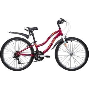 Велосипед 2-х колесный NOVATRACK 24 LADY сталь.рама 10 красный 24SH18SV.LADY.10RD9