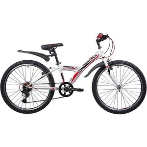 Велосипед 2-х колесный NOVATRACK 24 RACER сталь.рама 12 белый 24SH6V.RACER.12WT9 велосипед novatrack 16 зебра бордово белый 165 zebra clr6