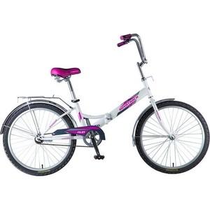 Велосипед 2-х колесный NOVATRACK 24 складной белый багажник 24FFS1.WT8 велосипед novatrack 16 зебра бордово белый 165 zebra clr6