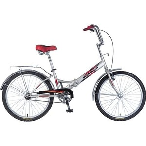 Велосипед 2-х колесный NOVATRACK 24 складной серый-зеленый 24FFS1V.GR8