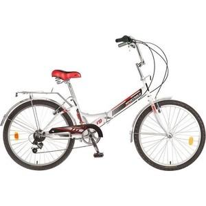 Велосипед 2-х колесный NOVATRACK 24 белый складной красный 1171 24FTG6PV.WT7 велосипед складной novatrack fs цвет черный 24