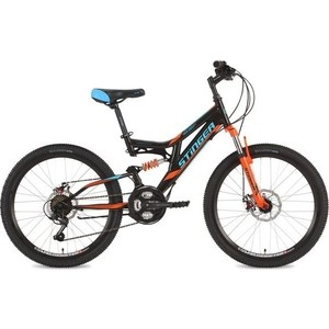 Велосипед 2-х колесный Stinger 24 Highlander D 14 черный 24SFD.HILANDISC.14BK8