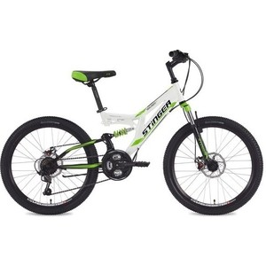 Велосипед 2-х колесный Stinger 24 Highlander D 14 белый 24SFD.HILANDISC.14WH8