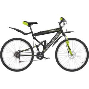 Велосипед Challenger Desperado FS 26 D черный/зеленый/белый 20