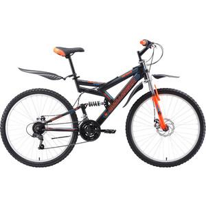 Велосипед Challenger Genesis FS 26 D черный/оранжевый/голубой 18