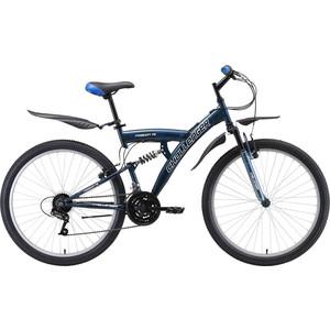 Велосипед Challenger Mission FS 26 синий/белый/голубой 18''
